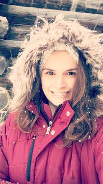 Sarah_ portrait image in snow