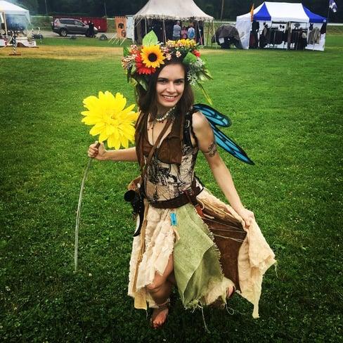 Sarah_ in fairy costume