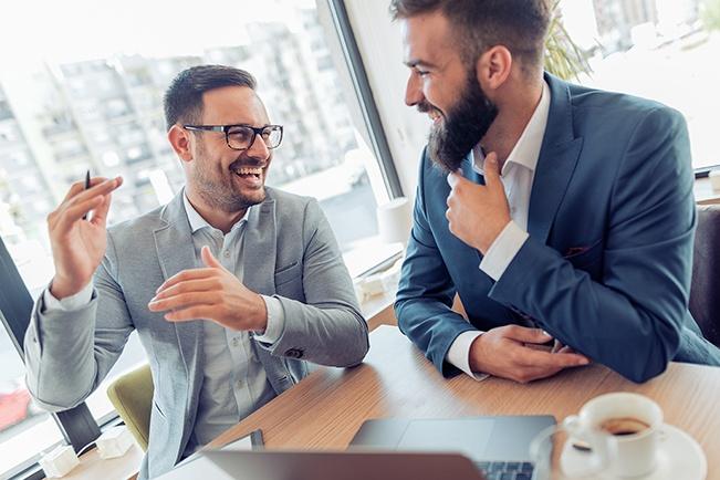 two-businessmen-talking