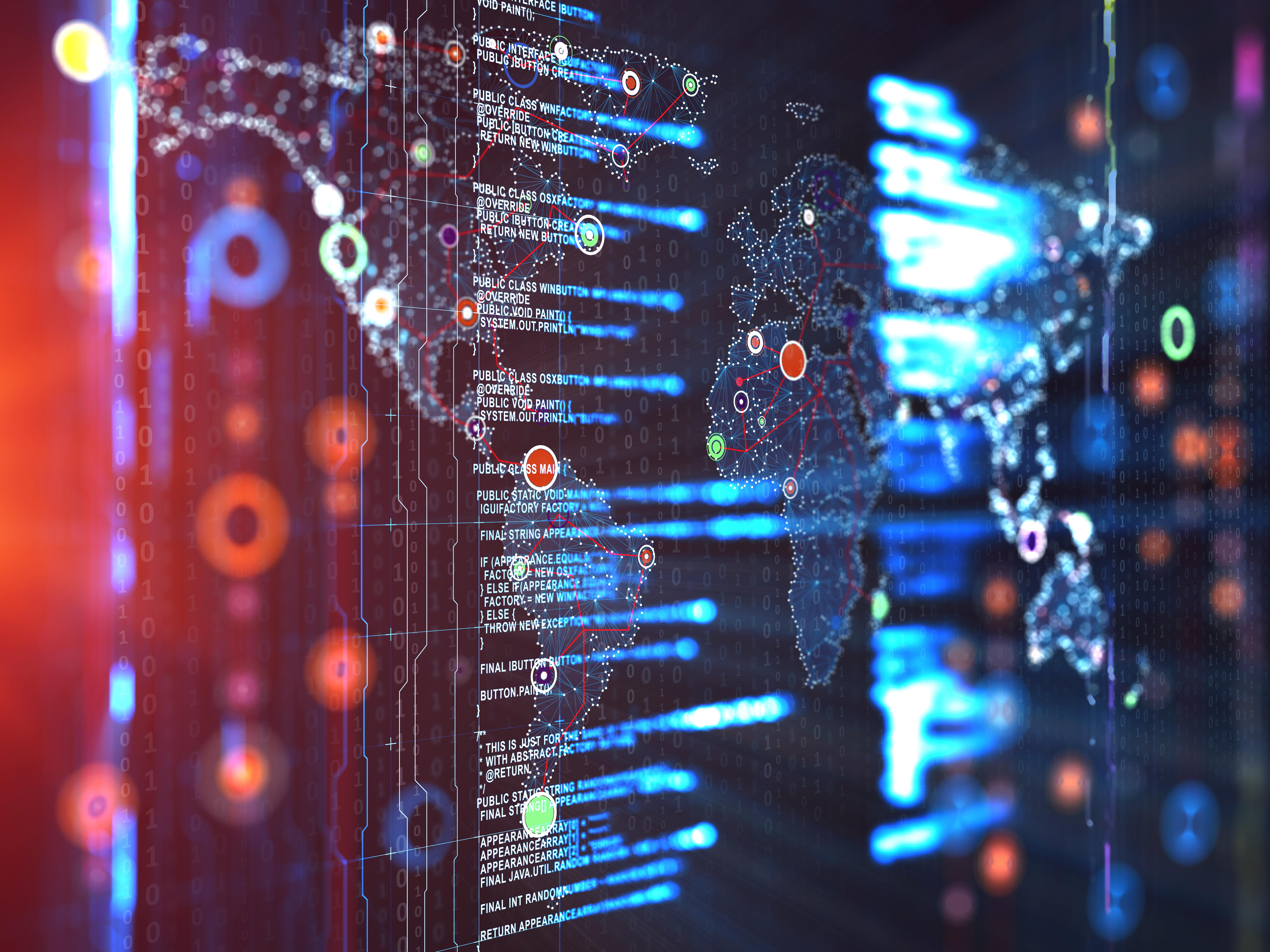 cyber tech globe